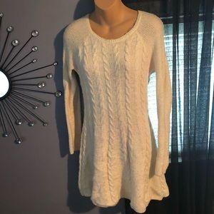 Hollister Cream Sweater Dress